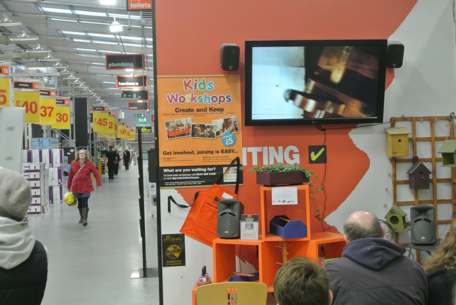 "Chodzko's ""Great Expectations"" on view in B&Q Gillingham (click to enlarge)"