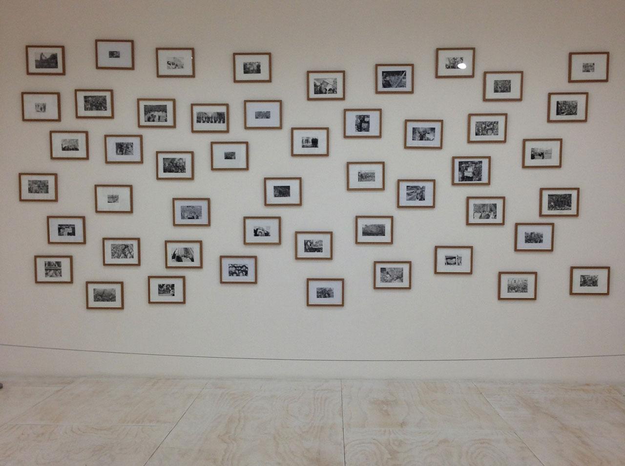 Installation view of Rikrit Tiravanija's 'Demonstration Drawings' (2009) (click to enlarge)