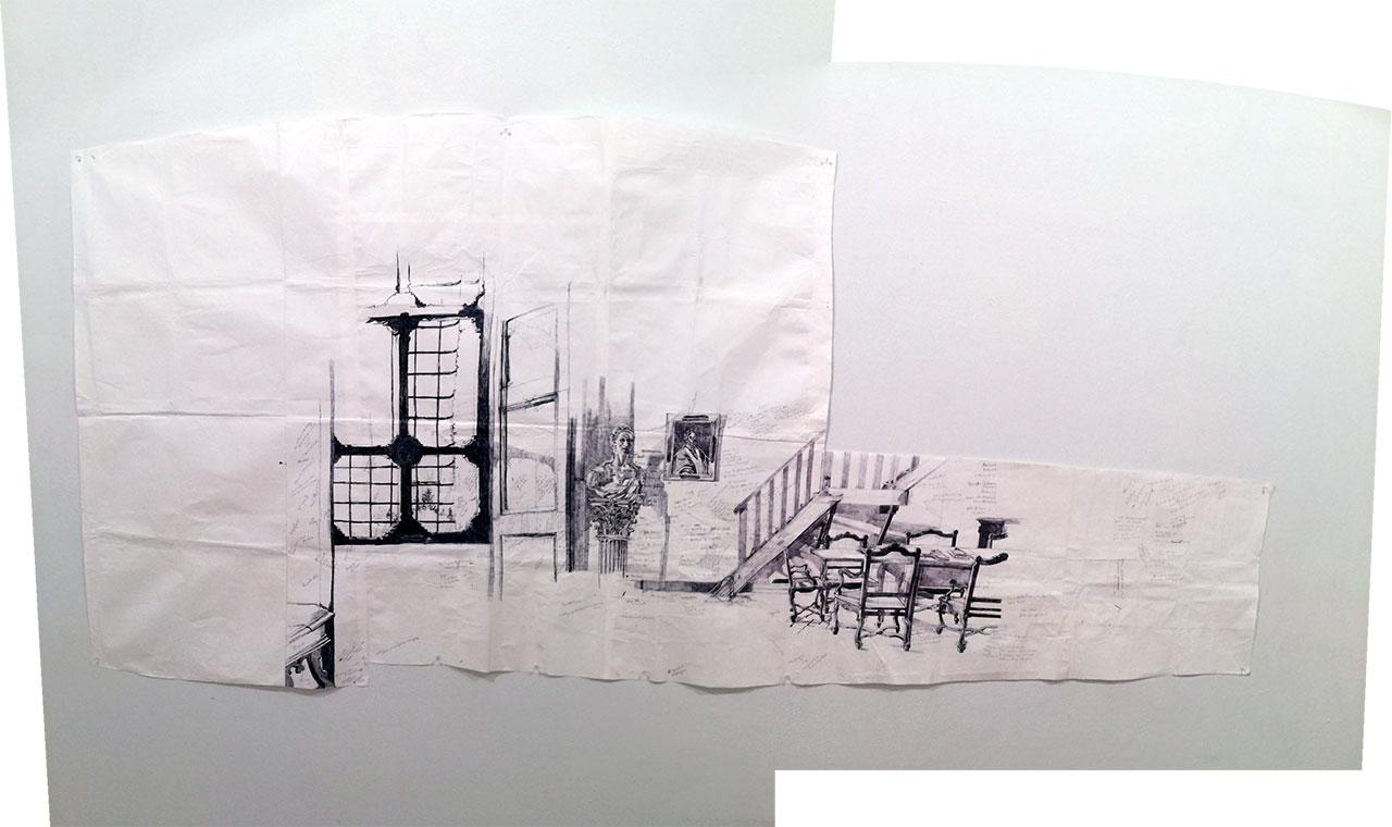 "Dawn Clements, ""Library (Civitella Ranieri)"" (2013)"