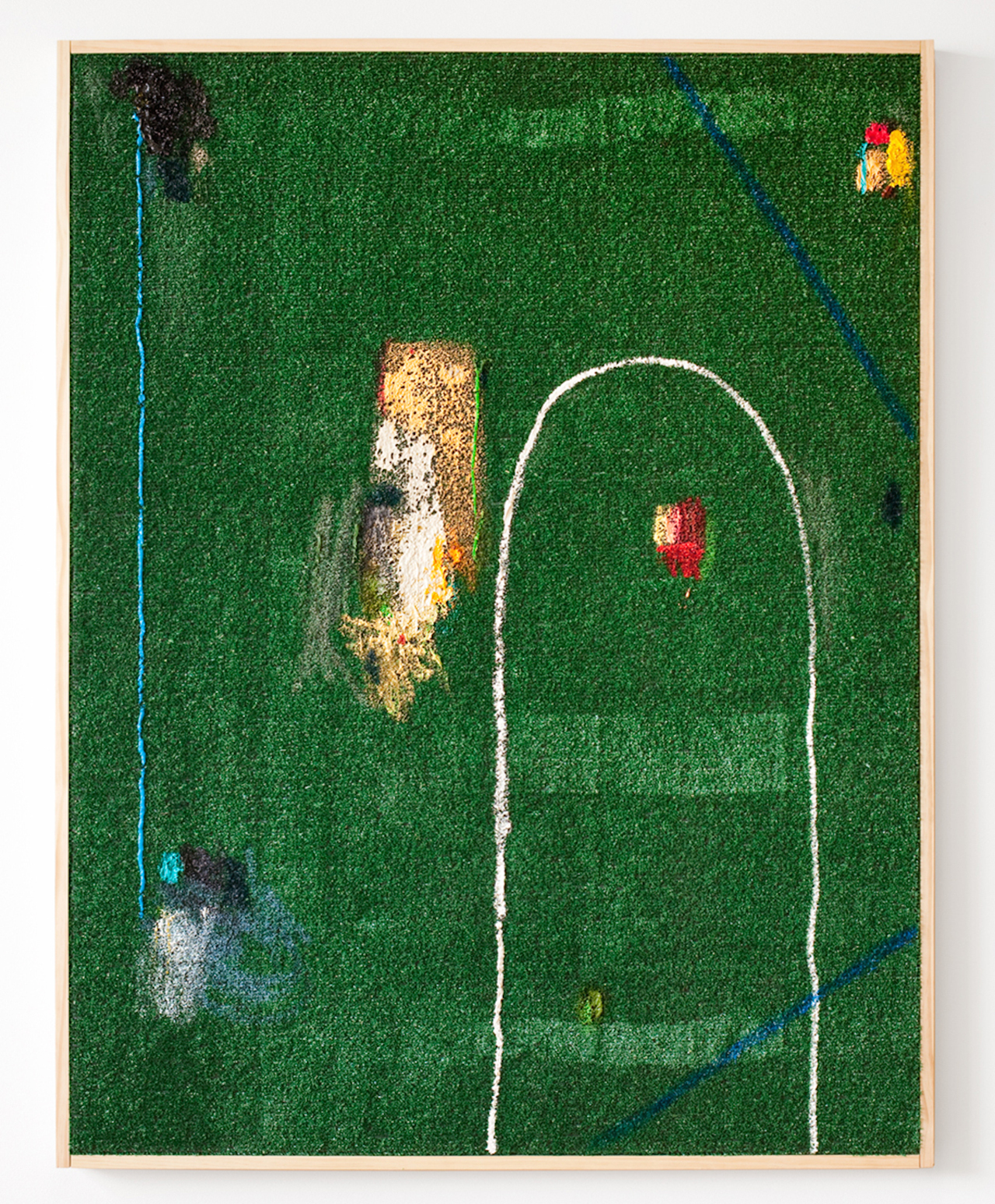 Nothing is off-limits, Untitled, oil and acrylic on Astroturf, 2013