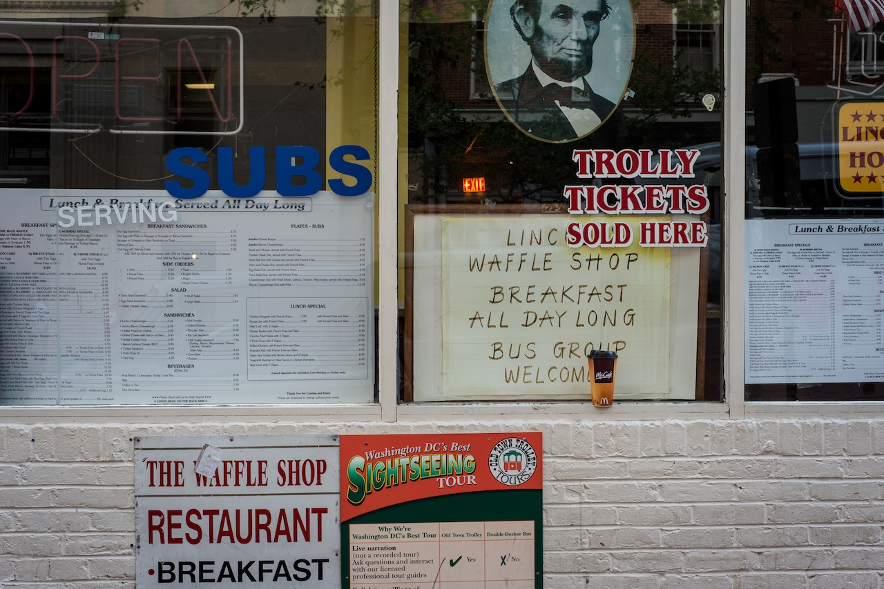 Lincoln Waffle Shop, across from Ford's Theatre, Washington, DC, 2013