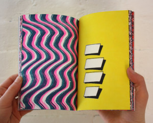 A limited edition book – SUCK THE FYSTEM – is being released in conjunction with the Booklyn exhibition. It is a collection of single design elements taken from web and digitally exaggerated to emulate pattern or textile designs.