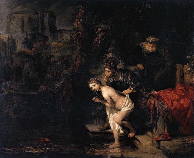 "Rembrandt Harmenszoon van Rijn, ""Susanna and the Elders"" (1647) (via Wikipedia)"