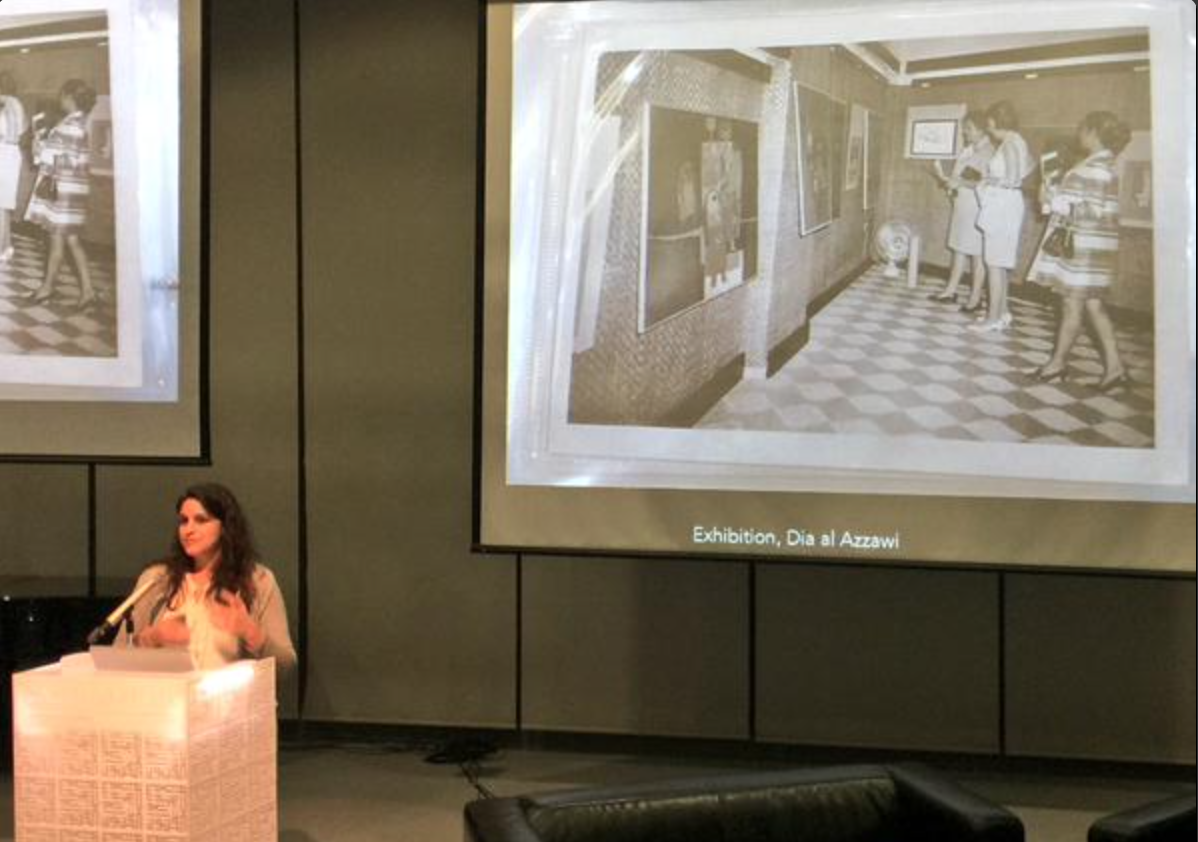 Christine … at Art Dubai's 2015 Global Art Forum in Kuwait, discussing the legacy of the Sultan Gallery.