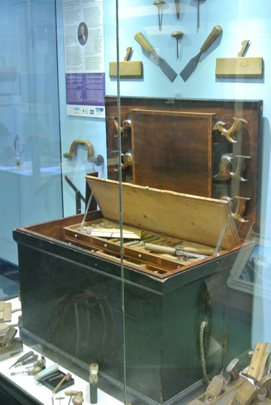 The world-famous Seaton Tool Chest in the Guildhall Museum, Rochester (click to enlarge)