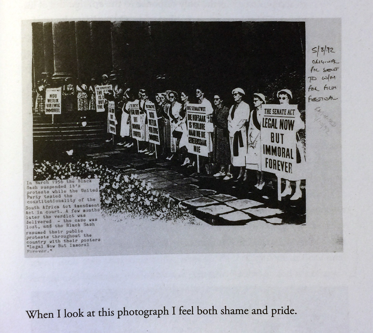 Detail of photograph of page 123 of Catherine Taylor's Apart.