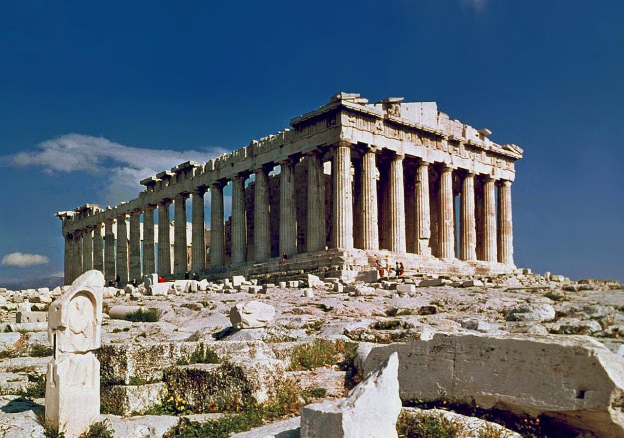 The Parthenon in Athens (Image via Wikimedia)