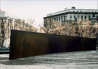 "Richard Serra's 1981 sculpture ""Tilted Arc"" (Image via Wikipedia)"