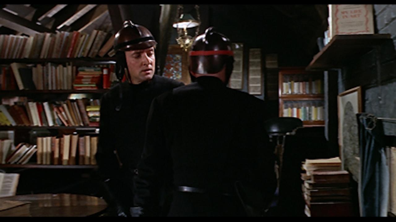 """François Truffaut, """"Fahrenheit 451"""" (1966) still from loop, Vineyard Films LTD"""