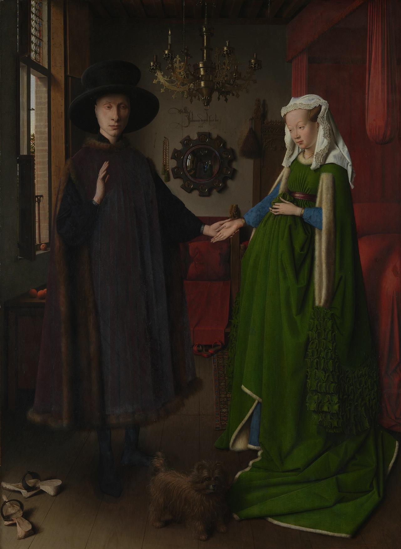 "Jan van Eyck, ""Arnolfini Portrait"" (c. 1390–1441) (Image via Wikimedia)"