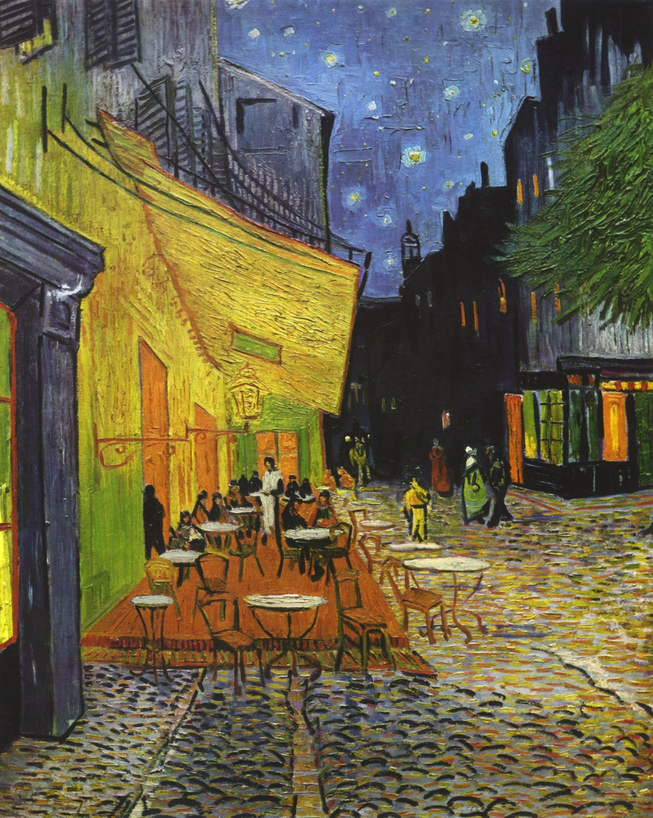 Looking for leonardo in van gogh 39 s cafe terrace at night for At the terrace