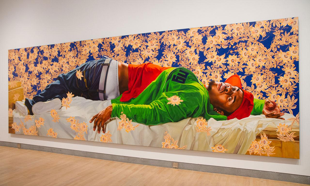 "Kehinde Wiley's ""Femme Piquée par un Serpent"" (2008) at the Brooklyn Museum (photo by Garrett Ziegler/Flickr)"