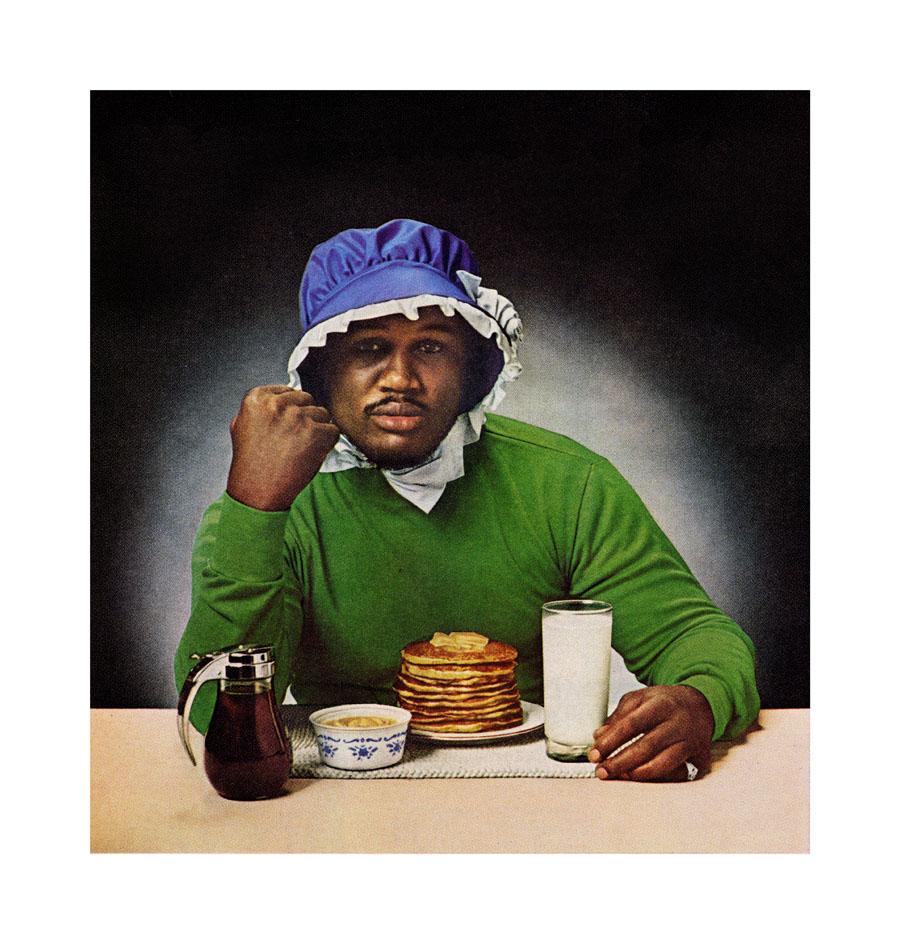 "Hank Willis Thomas (En Foco), ""Smokin' Joe Ain't J'mama"" (1978/2011), from the series 'Unbranded:  Reflections in Black from Corporate America, 1968-2008' (courtesy the artist/En Foco)"