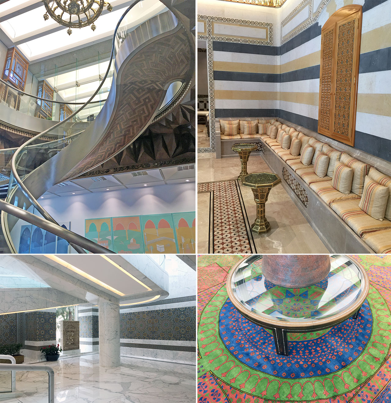 Various spaces in the Arab Fund Building