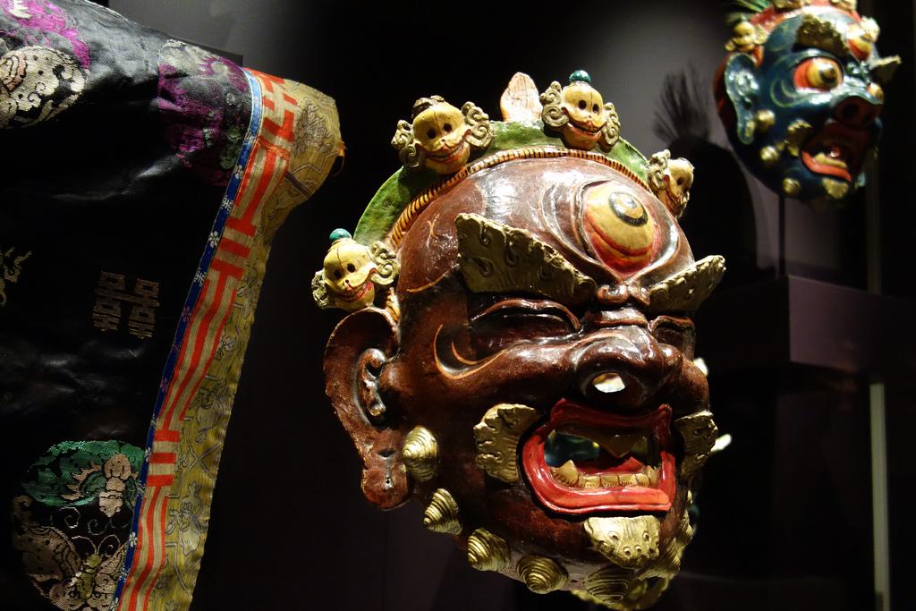 Mask of Ekajati from Mongolia, 20th century, papier-mâché, polychrome