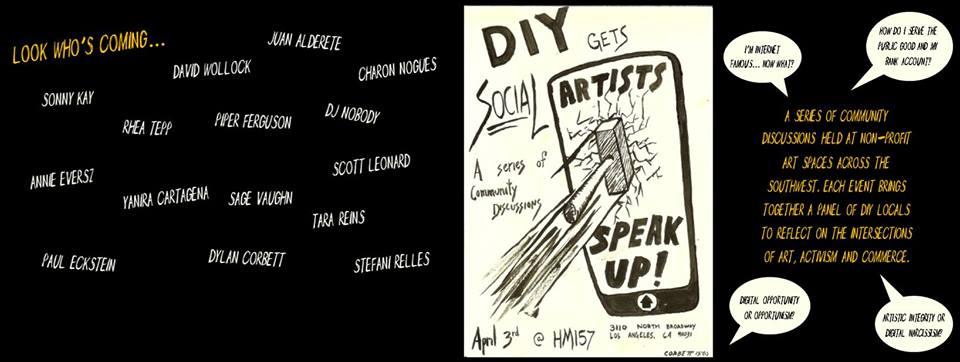 DIY Gets Social: Artists Speak Up! (via facebook)