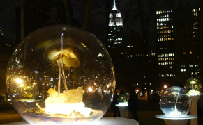 Post image for Crystal Balls of Cast-off Technology Illuminate a Park in Manhattan