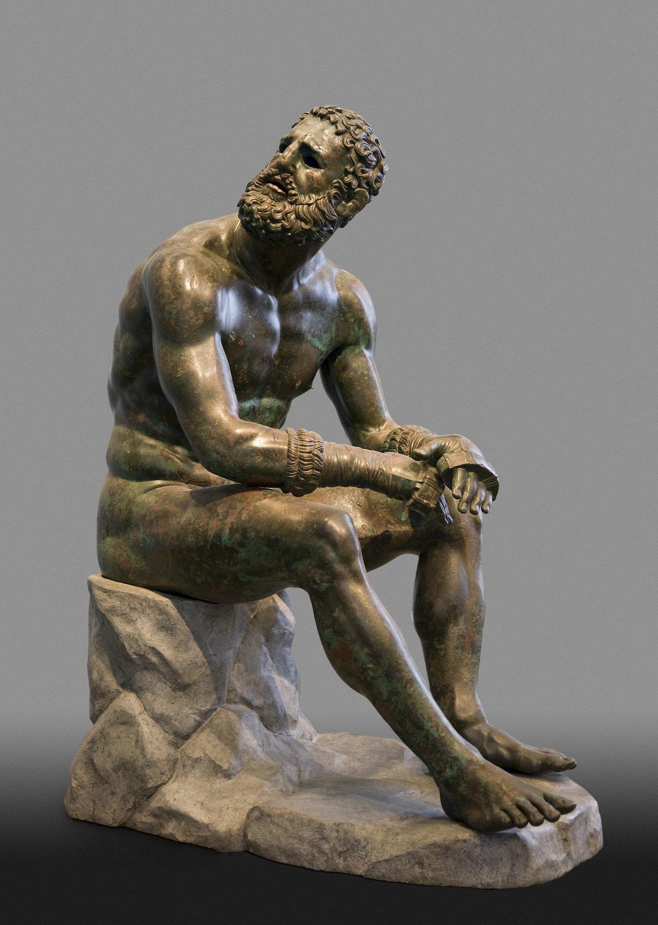 Terme Boxer (3rd-2nd century BCE), Greek bronze (courtesy Museo Nazionale Romano - Palazzo Massimo alle Terme)