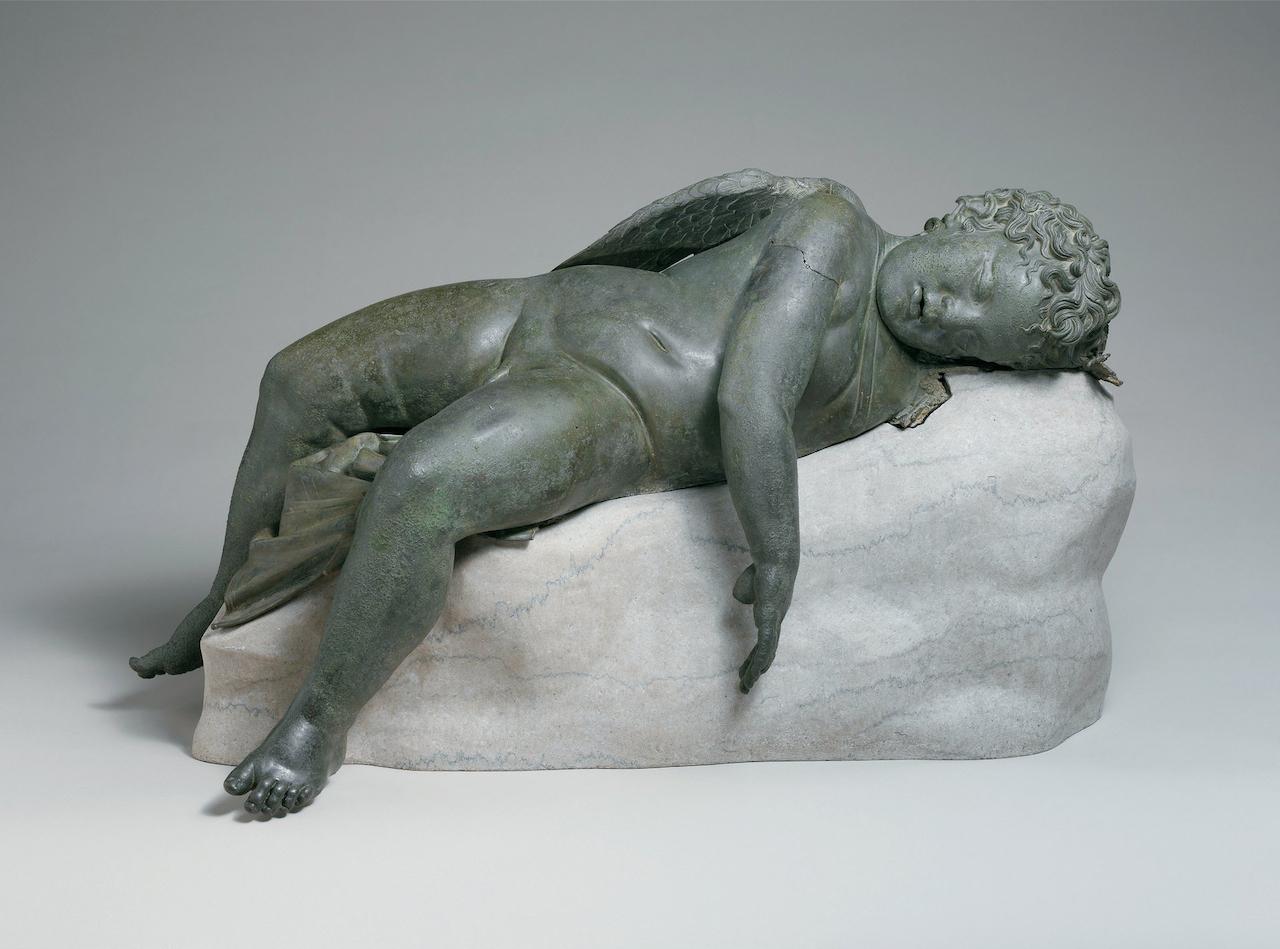 Sleeping Eros (3rd century BCE-1st century CE), Greek bronze (courtesy the Metropolitan Museum of Art/Scala, Firenze)