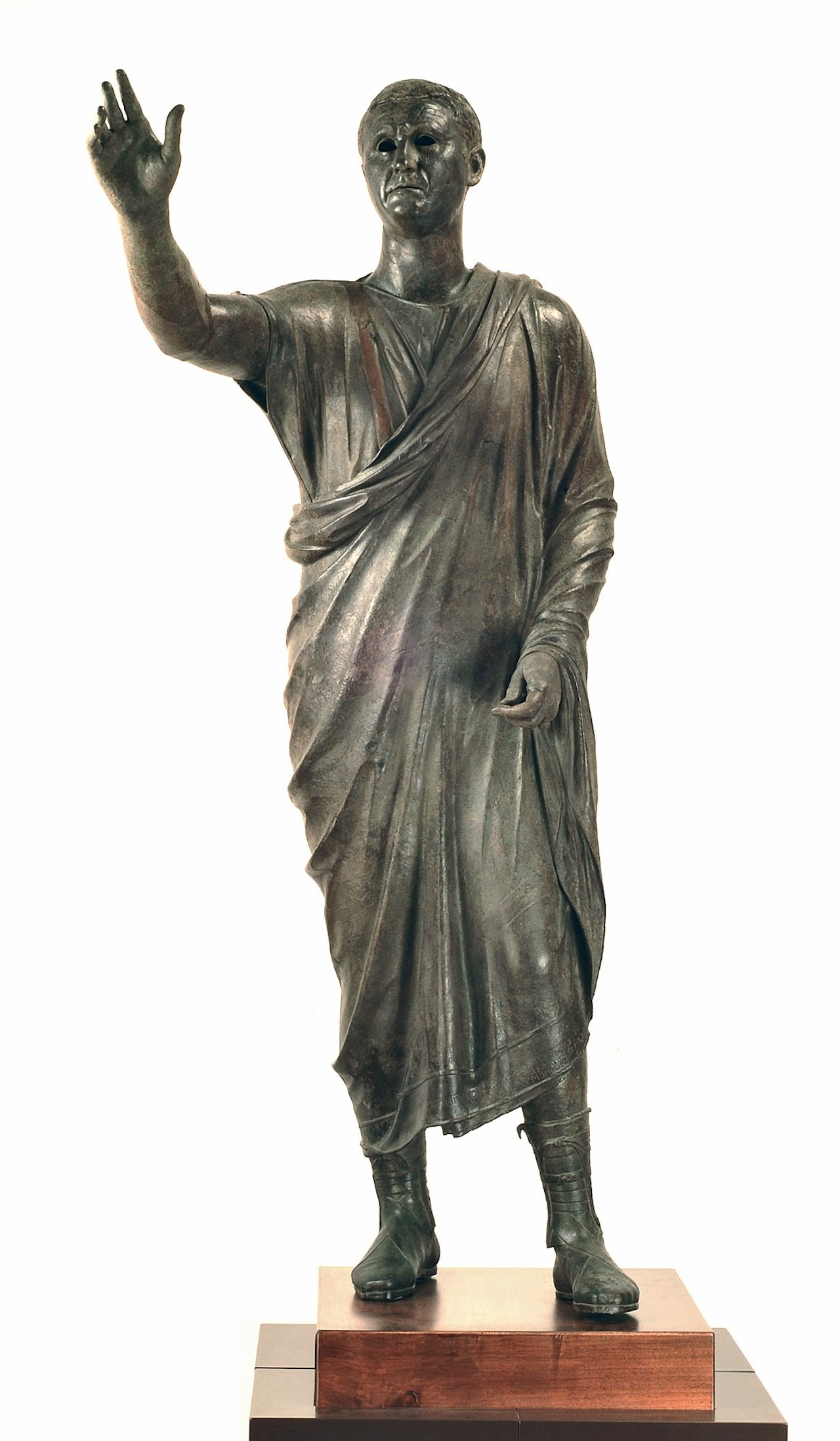 Statue of Aulus Metellus (Arringatore) (2nd-1st century BCE), Greek bronze (courtesy National Archaeological Museum of Florence)