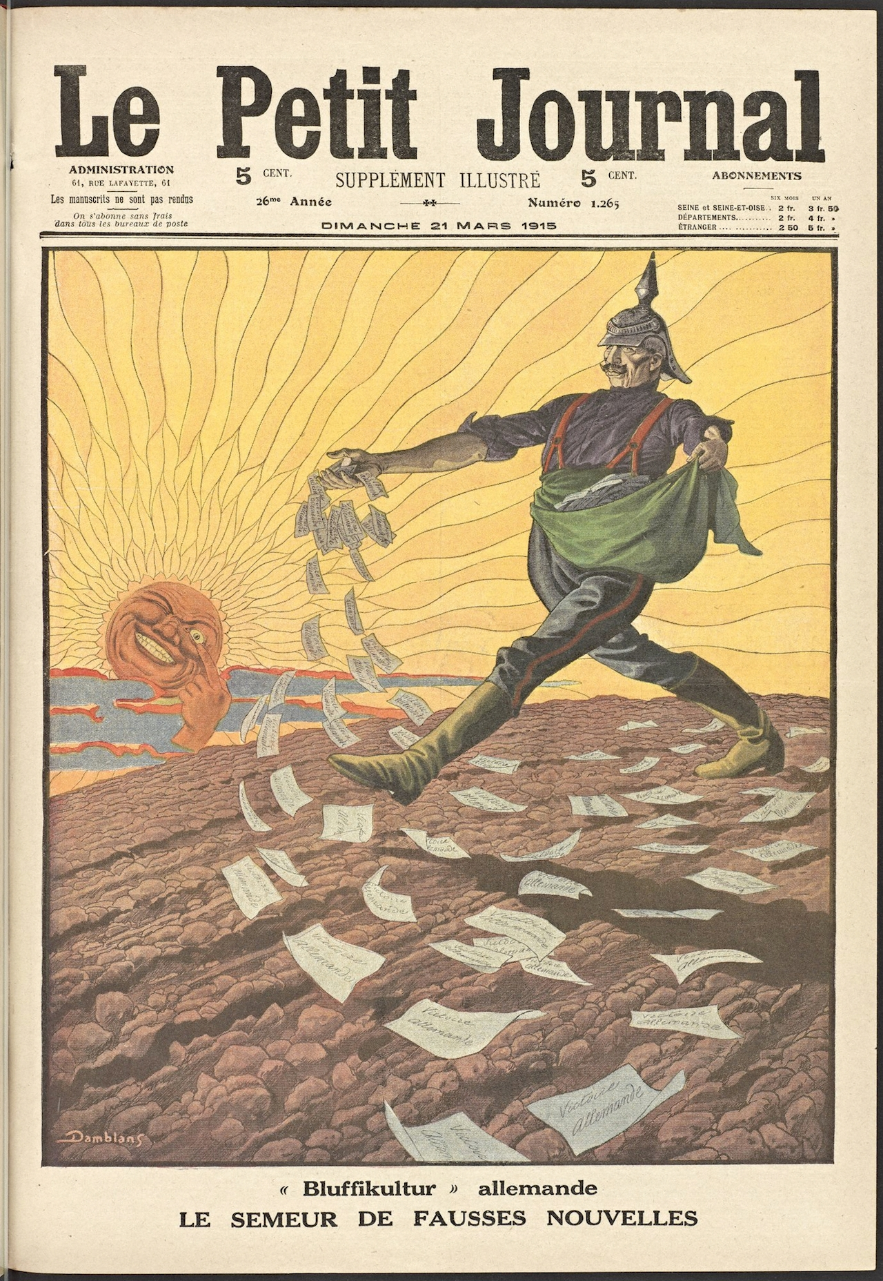 Competing views of world war i eyewitness and editorialized - Petit journal lattes ...