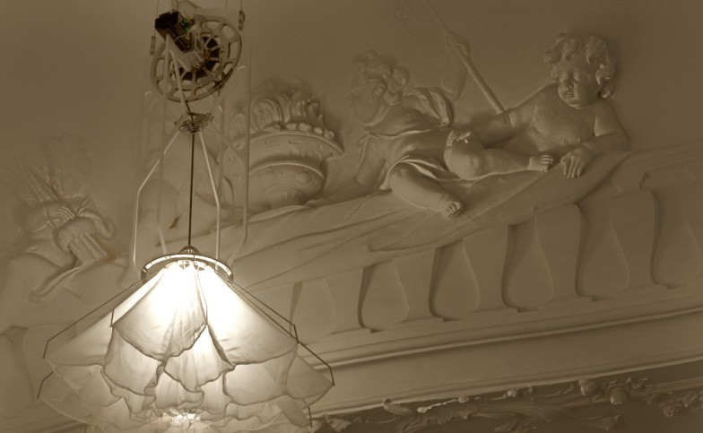 Detail of a Shylight in the Rijksmuseum (courtesy Studio Drift)