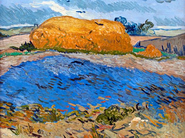 "Vincent van Gogh, ""Wheat Stack Under a Cloudy Sky"" (1889) (© Peter Horree/Alamy, via RSC)"