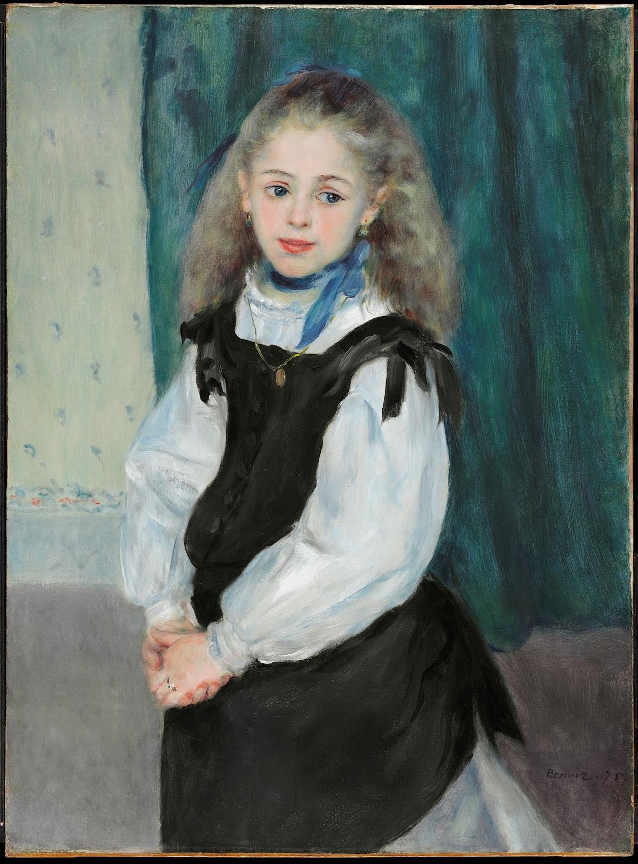 Portrait of Mademoiselle Legrand Pierre-Auguste Renoir 1875