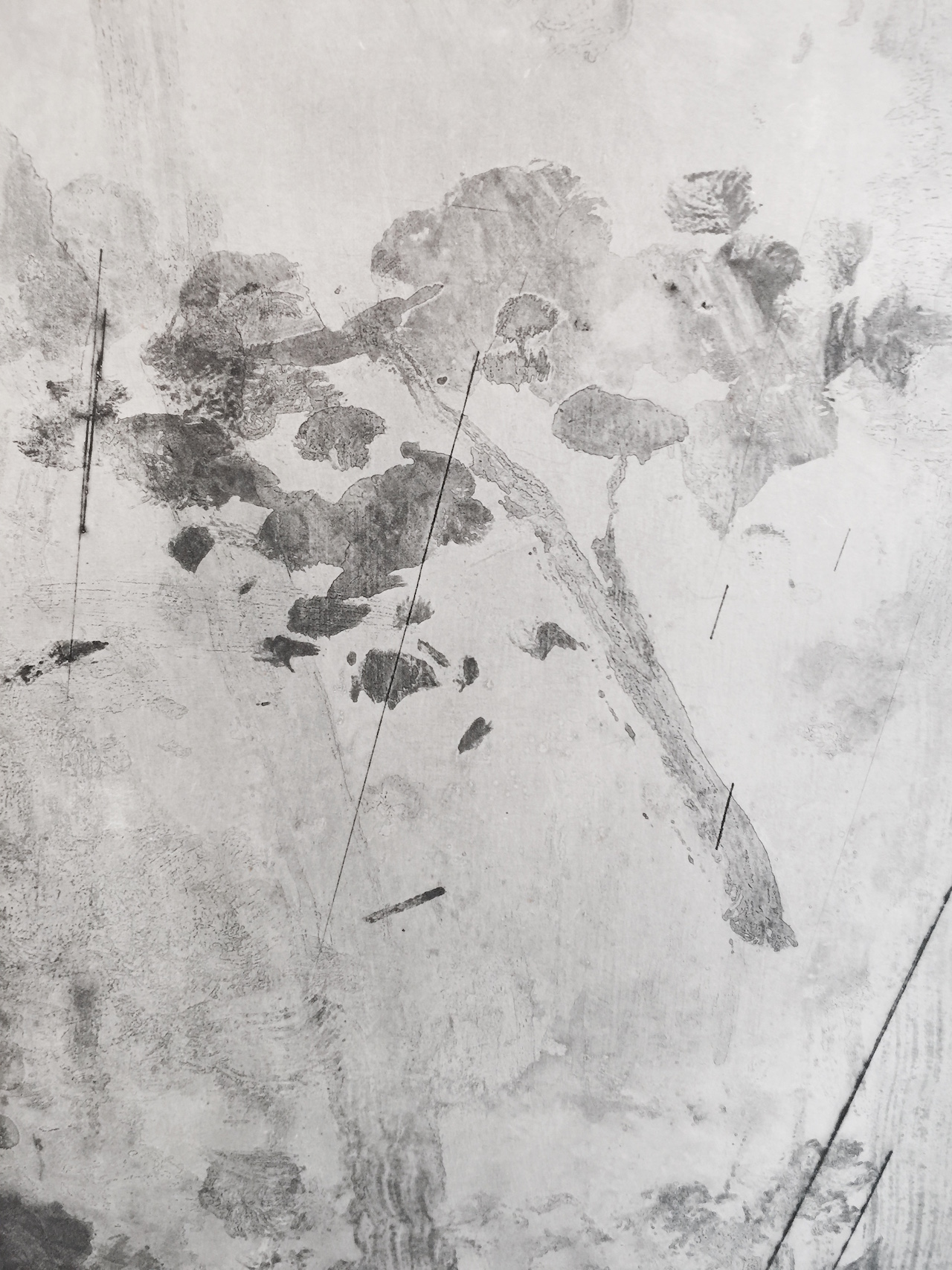 """Yan Shanchun, """"West Lake-Qixia Mountain"""" (detail) (2014) (photo by author)"""