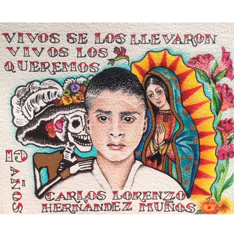 "Laila Cohen, ""Carlos Lorenzo"" (2014), pencil, watercolor"