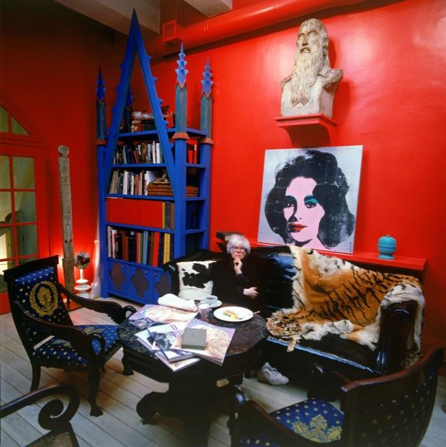 Tseng Kwong Chi, Andy Warhol in his studio, c. 1986
