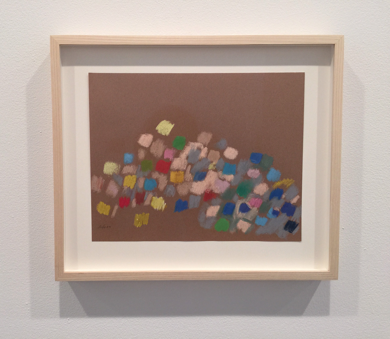 """Etel Adnan, """"Untitled"""" (c. 1970), pastel on paper, 9.5 x 11.8 inches"""