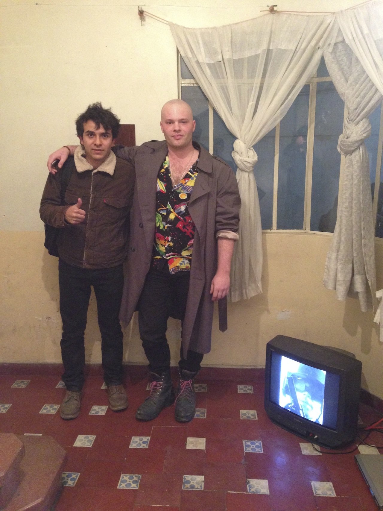 Daniel Aguilar Ruvalcaba of Biquini Wax, and Andrew Birk of NO Space at Biquini Wax with video piece by Skip Arnold.
