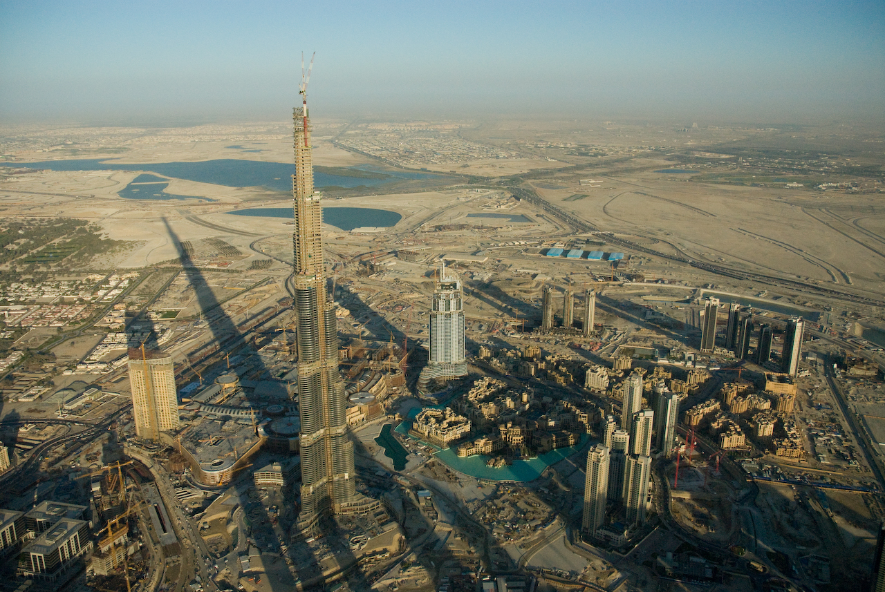 The Burj Khalifa in Dubai is currently the world's tallest building (Image via Wikipedia)