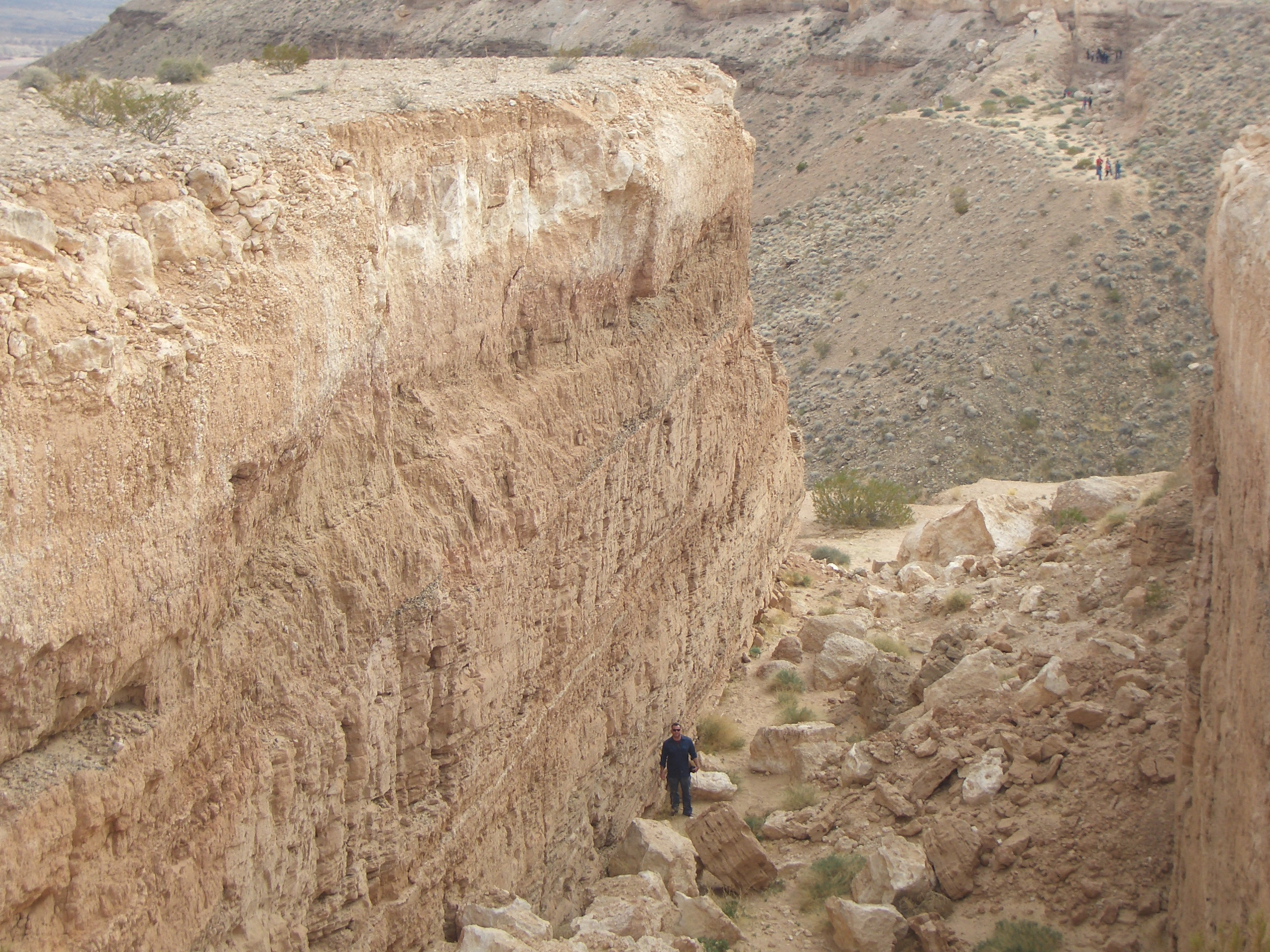 "Image of part of Michael Heizer's ""Double Negative"" (1969). (source: http://en.wikipedia.org/wiki/Double_Negative_%28artwork%29#/media/File:Double_Negative_Artwork.jpg)"