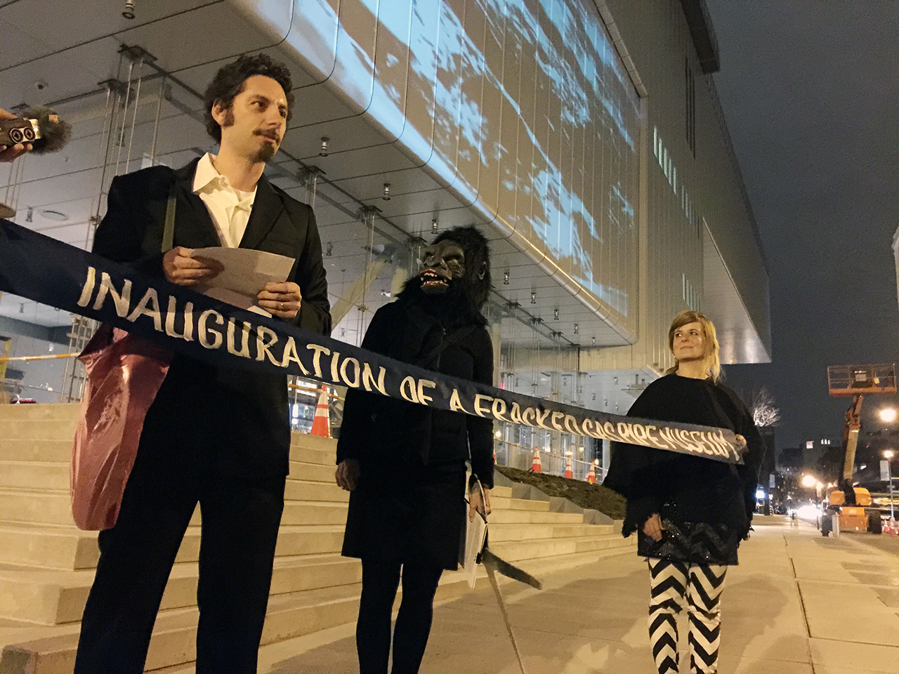 Art Protest Groups Join Forces For Guerrilla Ribbon