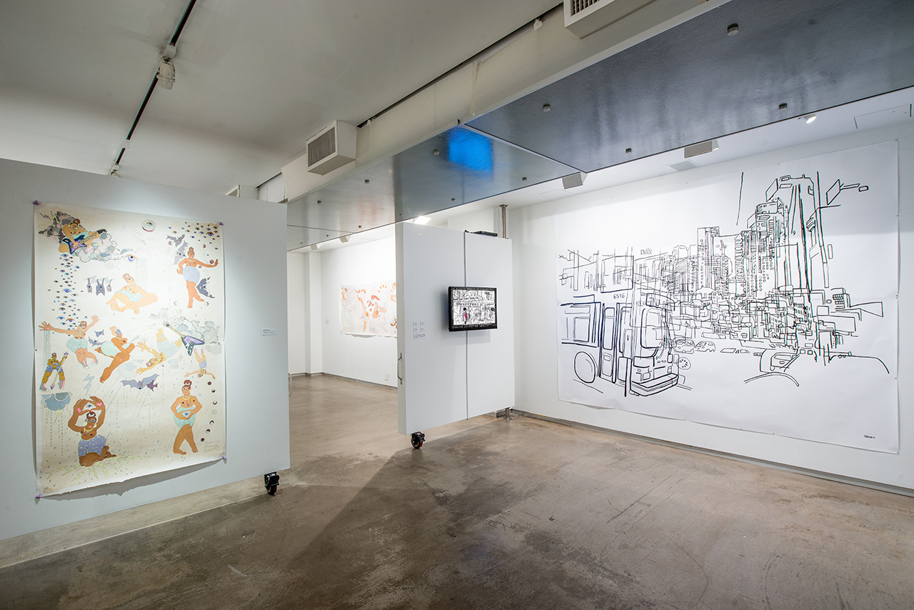 Installation view, 'Vision Quest' at MoCADA