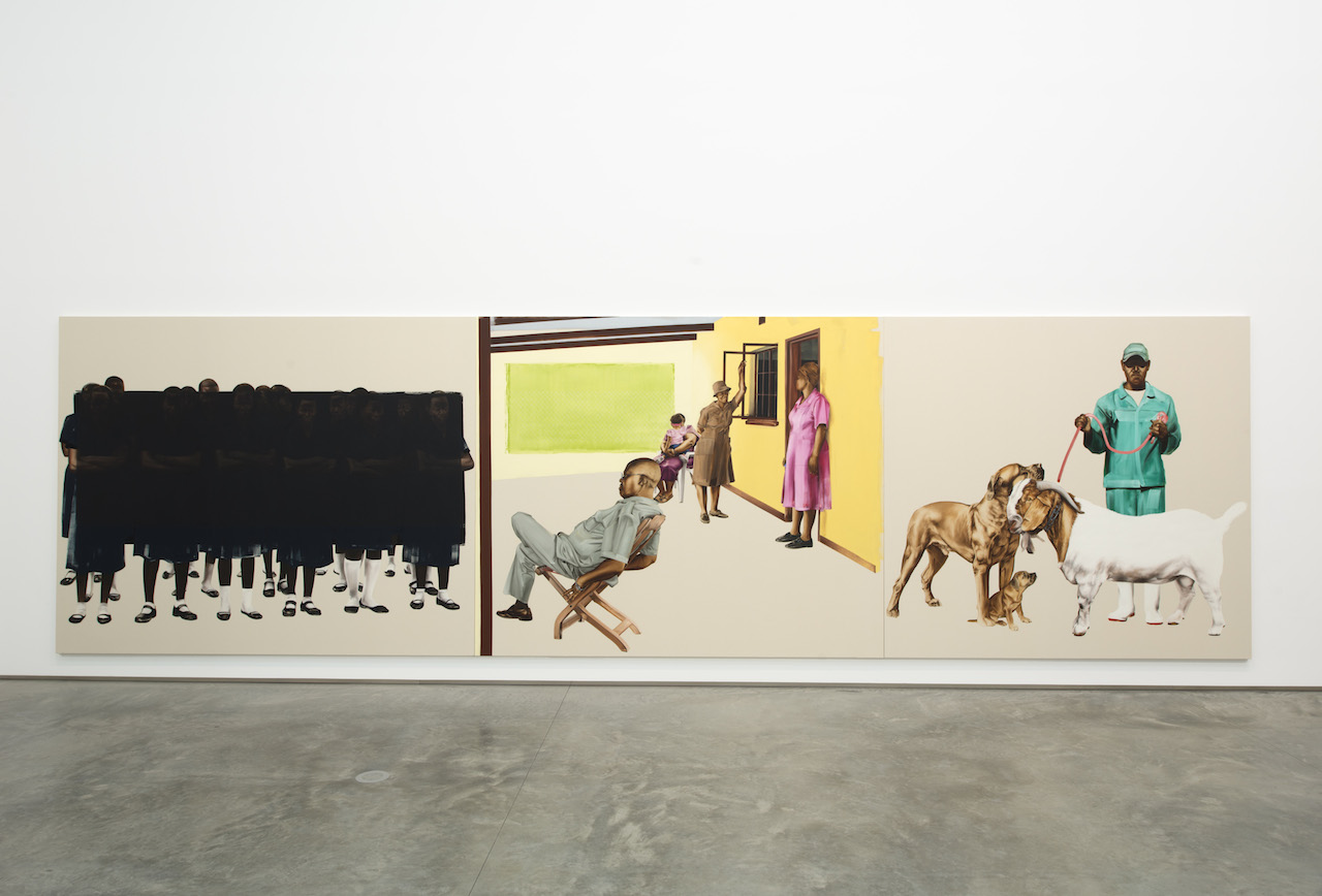 Meleko Mokgosi  (installation view), The School, Kinderhook, NY, January 31 – April 12, 2015. ©Courtesy of Jack Shainman Gallery, New York.