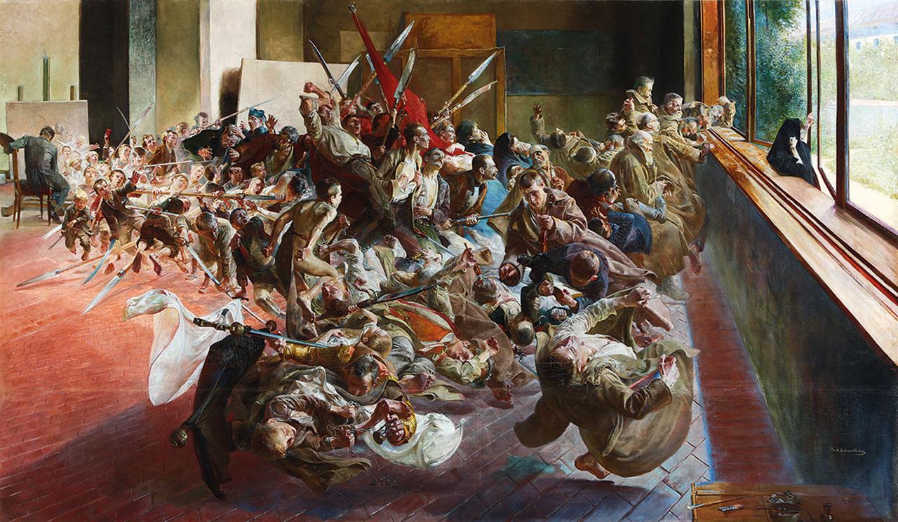 """Jacek Malczewski, """"Melancholia (Melancholy)"""" (1890–94), oil on canvas, 54 ¾ × 94 ½ inches (139 × 240 cm), Muzeum Narodowe w Poznaniu, Poznań. Fundacja Raczyńskich (all images courtesy Gagosian Gallery)"""