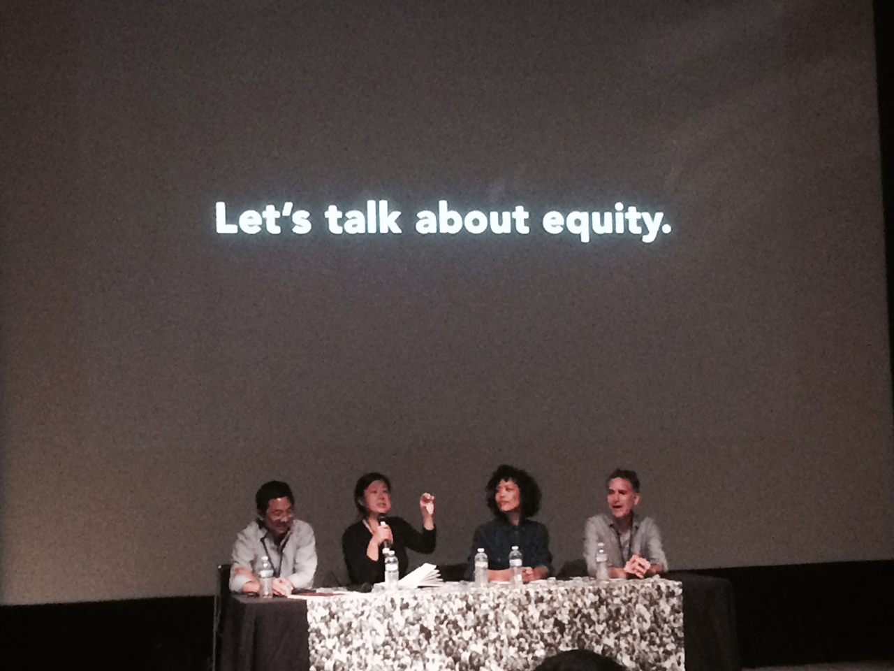 Panelists at the Ethics and Aesthetics of Place talk at Open Engagement (all photos by the author for Hyperallergic)
