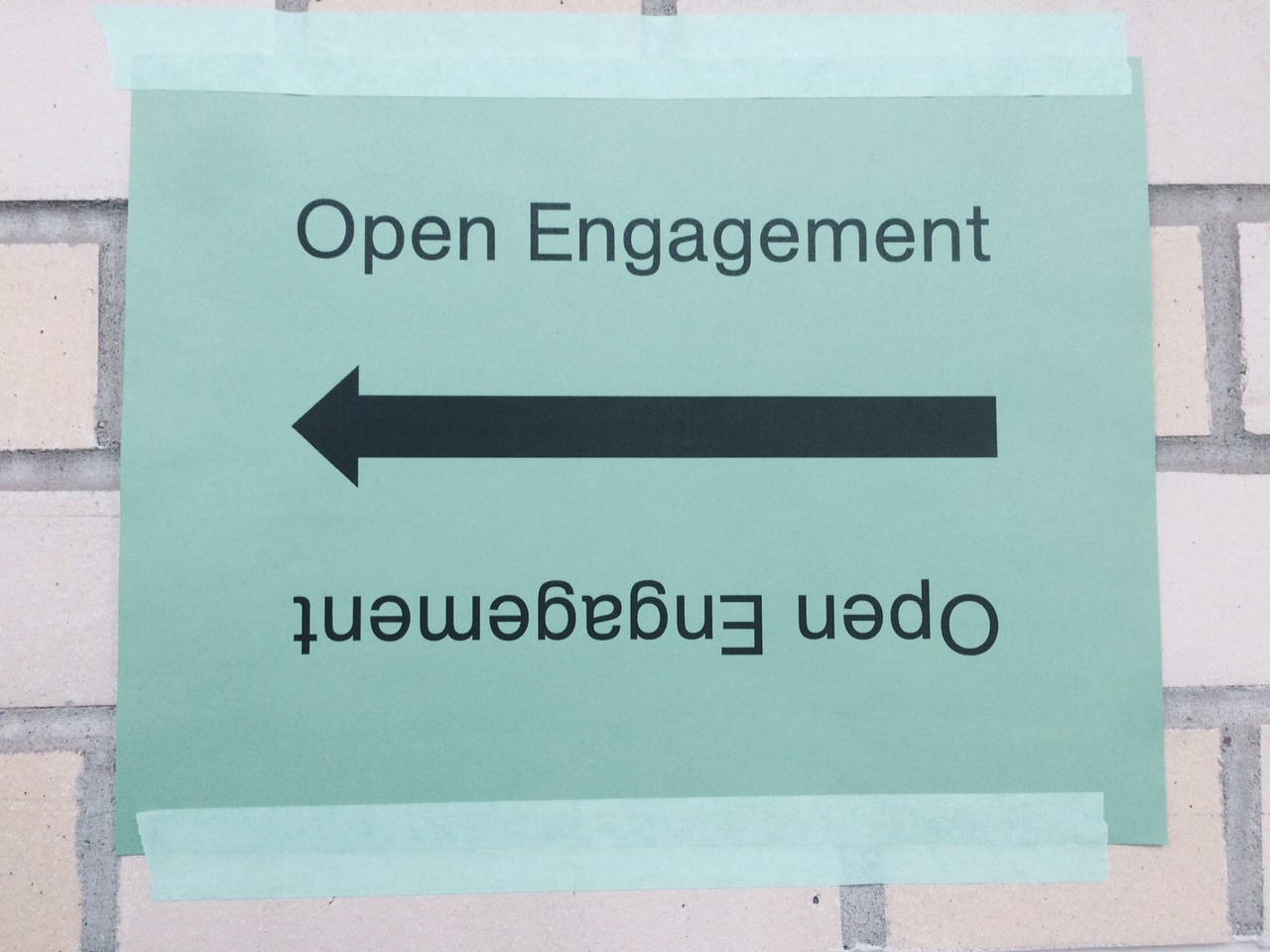 Sign for Open Engagement