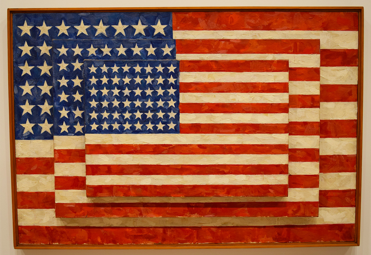"""Jasper Johns, """"Three Flags"""" (1958) (all photos by the author unless noted otherwise)"""
