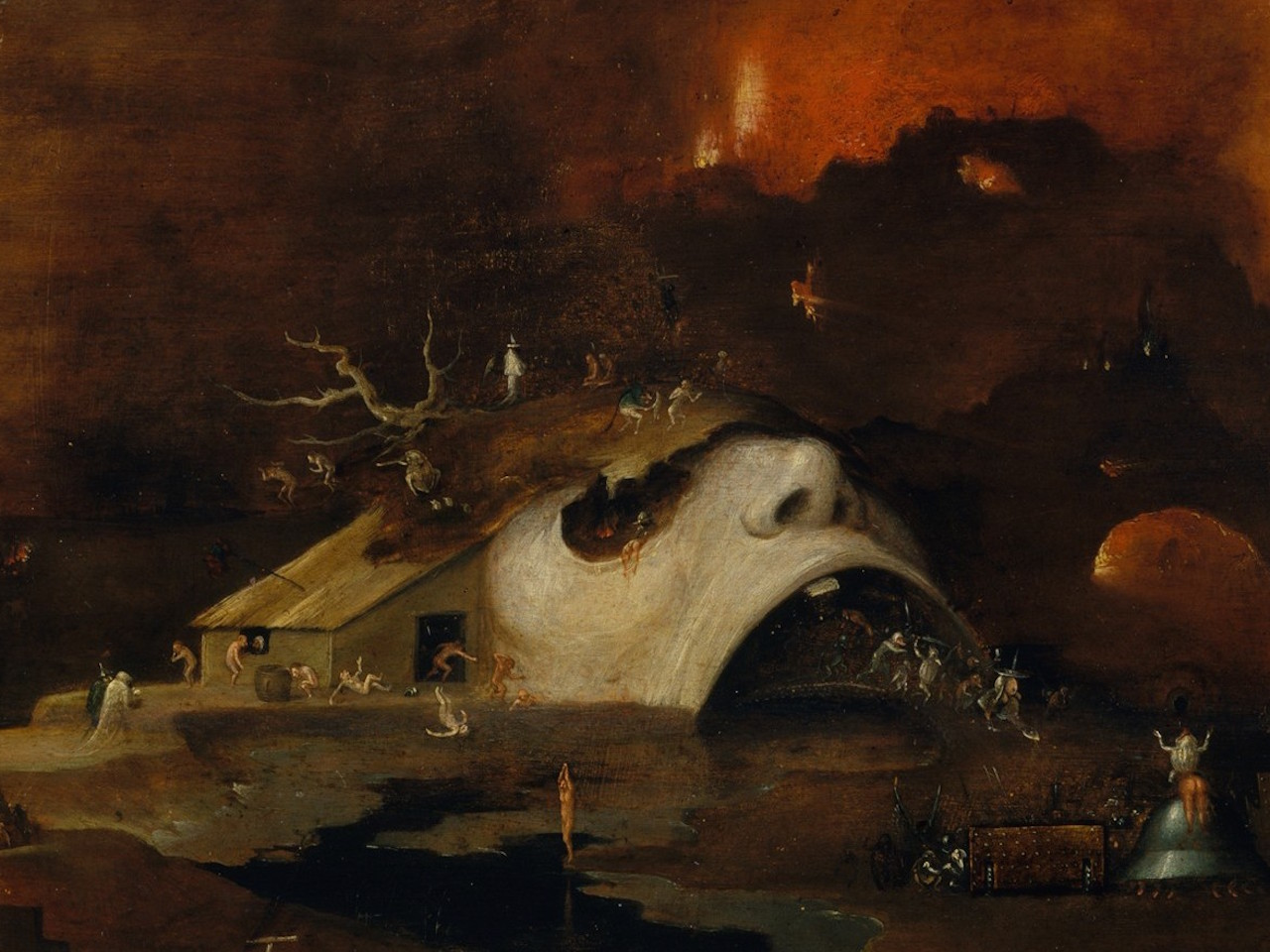 "Detail of ""Christ's Descent into Hell"" (circa 1550–60) by a follower of Hieronymus Bosch (Harris Brisbane Dick Fund, 1926, Metropolitan Museum of Art, via Wikimedia Commons)"