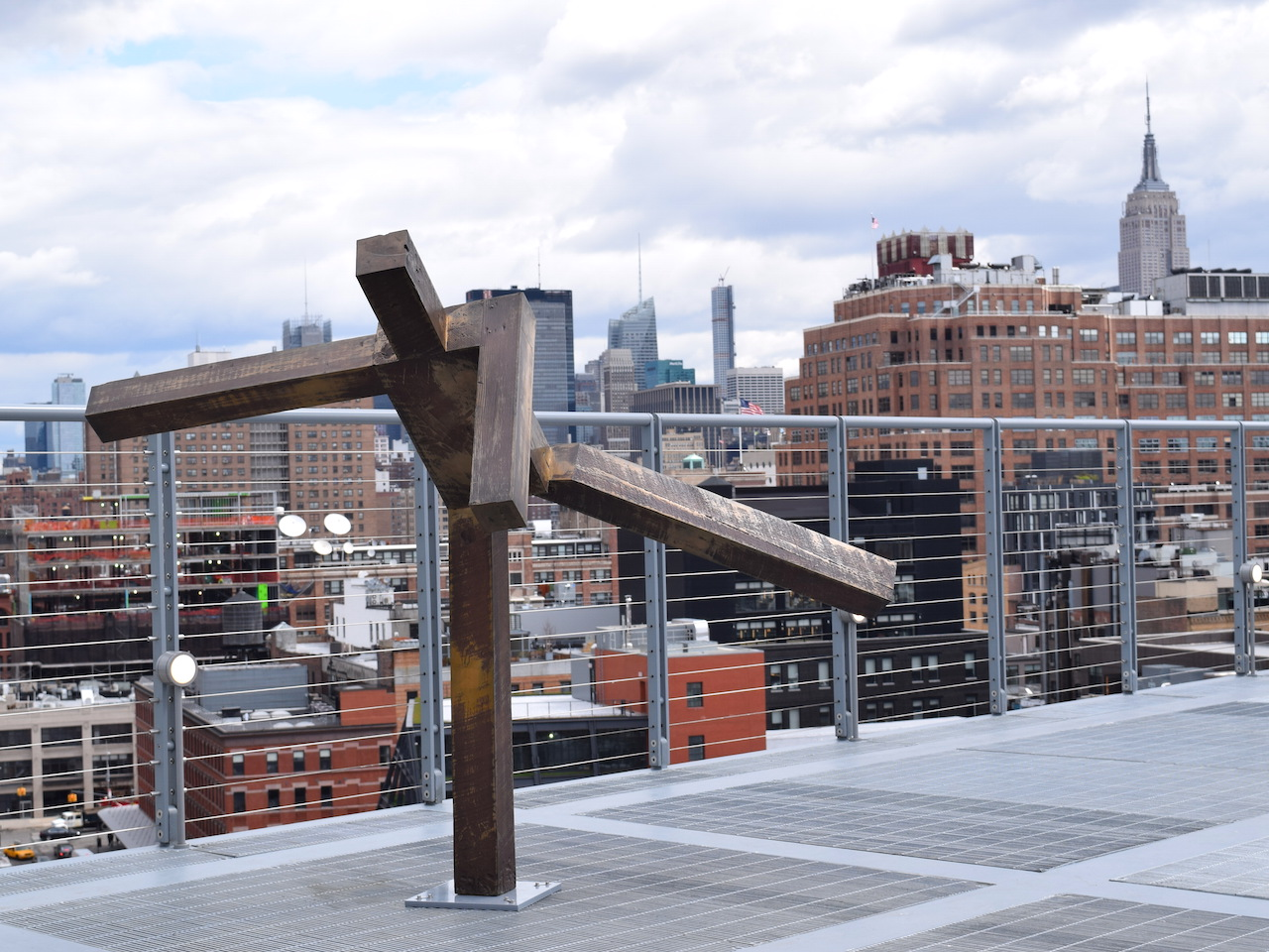 """Joel Shapiro, """"Untitled"""" (1980–81) on the roof of the new Whitney Museum building"""