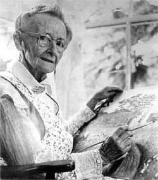 Grandma Moses started painitng late in life (Image via WikiArt)