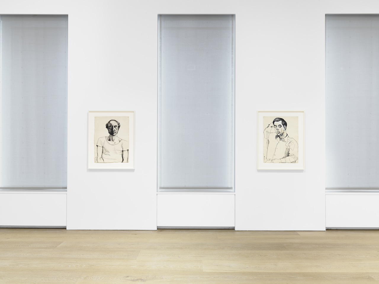 Alice Neel Installation view from the 2015 solo exhibition Alice Neel: Drawings and Watercolors 1927-1978 at David Zwirner, New York © The Estate of Alice Neel Courtesy David Zwirner, New York/London