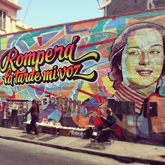 A mural in Lima (Image via Twitter)