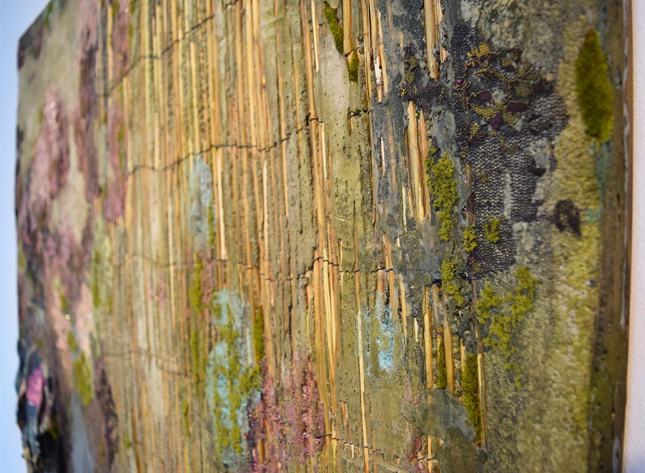 "Detail of Lina Puerta, ""Untitled (purple)"" (2014)"