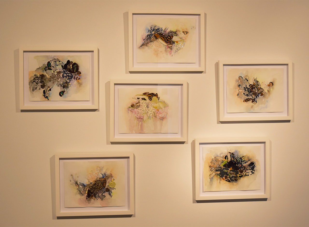 Installation view of Lina Puerta 'Galaxies' series (2015)