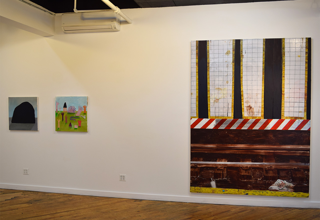 Installation view of 'Long Story Short' at Trestle Gallery